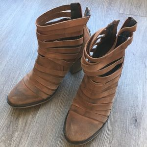 Free people 'Hybrid' leather strappy bootie